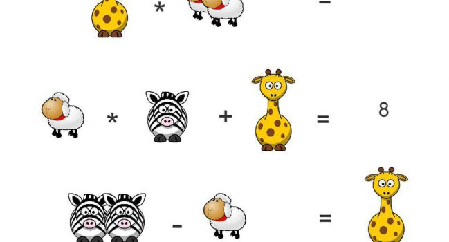 معمای ریاضی  حیوانات