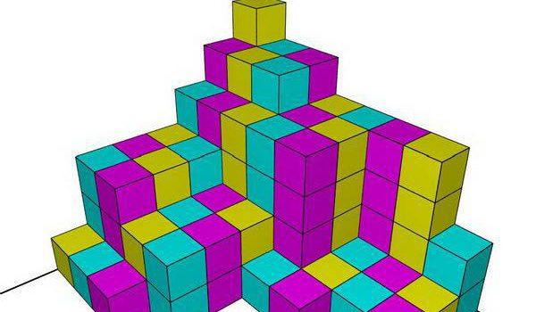 معمای تعداد مکعب های رنگی