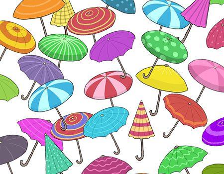 آیا میتوانید چتر شبیه به هم را پیدا کنید؟