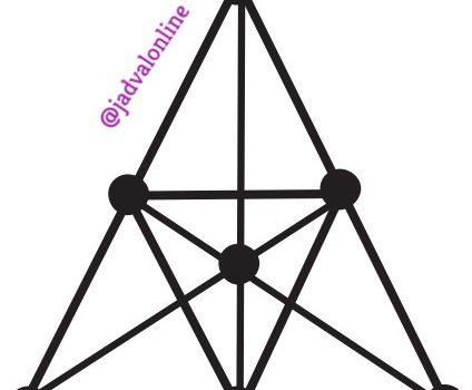 معمای جالب ریاضی تعداد مثلث ها