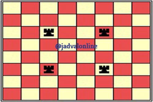معمای شطرنج مربع های بی رخ